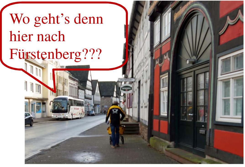 Wo geht es denn hier nach Fürstenberg?